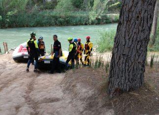 Rescate en el río Cabriel