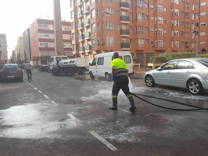 Limpieza calles Alfafar