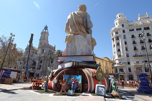 Falla de la plaza del Ayuntamiento de Valencia