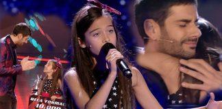 Melani en la final del talent show