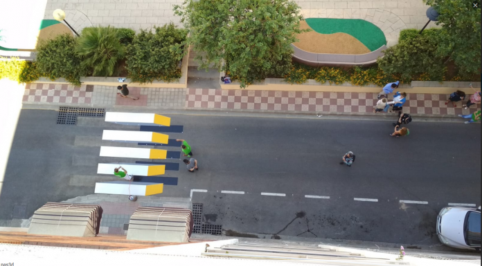Paso peatones 3 D