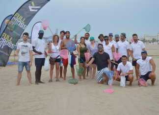 Limpieza de colillas en las playas de Valencia