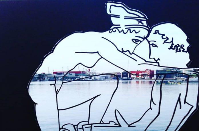 Escultura sobre sexo de Antoni Miró