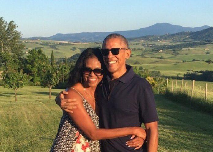 Imagen de Obama con Michelle