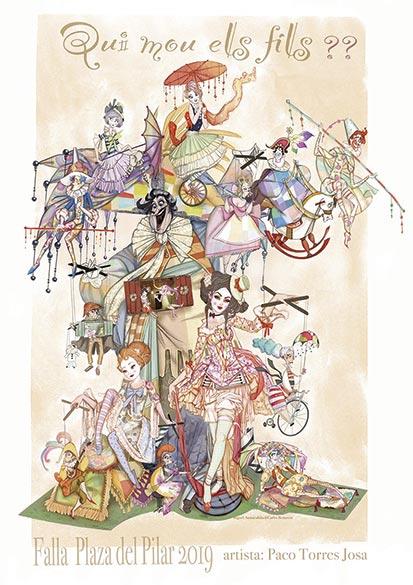 boceto de la falla El Pilar