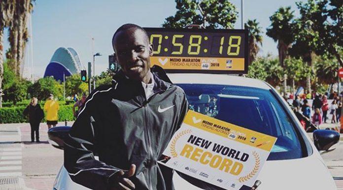 El récord del mundo de Medio Maratón conseguido este domingo.