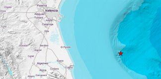 Imagen del mapa donde ha tenido lugar el terremoto