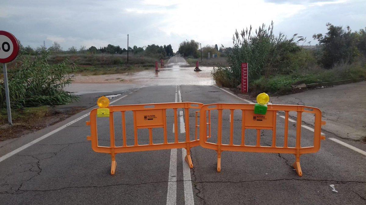 Por lluvias suspenden las clases en Gandía y Alginet