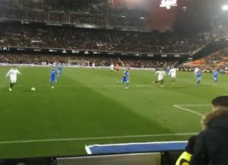 Gol que clasifica para semifinales de la Copa del Rey
