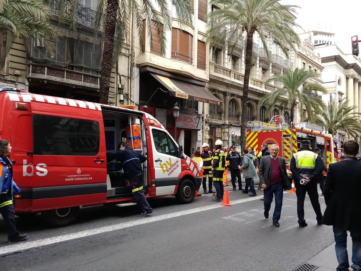 derrumbe de un piso en la calle Las Barcas