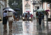 fin de semana de lluvias