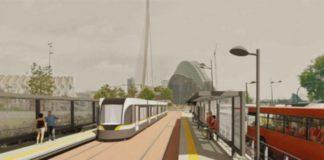 Diseño de la futura Línea 10 de Metrovalencia en su paso por la Ciutat de les Arts.