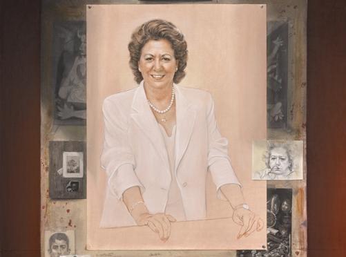 Retrato de Rita Barberá para el Ayuntamiento de Valencia.