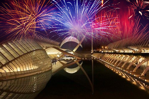 Nochevieja en la Ciudad de las Artes y las Ciencias de Valencia