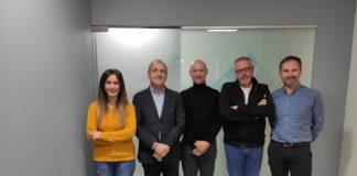 Equipo de La Graella junto con Toni Bernabé, Javier Solsona y Evarist Caselles