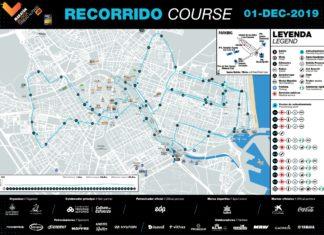 Plano del recorrido del Maratón Trinidad Alfonso de Valencia.