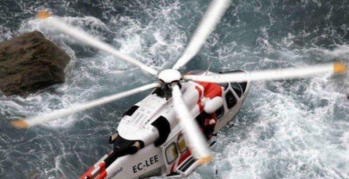El helicóptero Helimer durante una operación marítima.