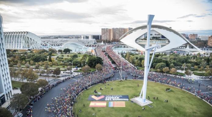 La Ciudad de las Artes durante el Maratón de Valencia 2019.
