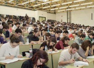 Estudiantes examen Mir de Sanidad