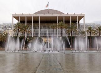 Fachada principal del Palau de la Música de Valencia.