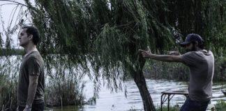 Pedro Alonso y Marc Vigil en la grabación de El silencio del pantano