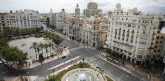 peatonalización de la plaza del Ayuntamiento