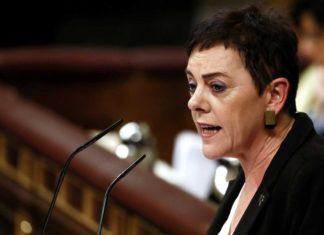 La diputada de EH Bildu Mertxe Aizpura en el segundo debate de investidura de Pedro Sánchez.