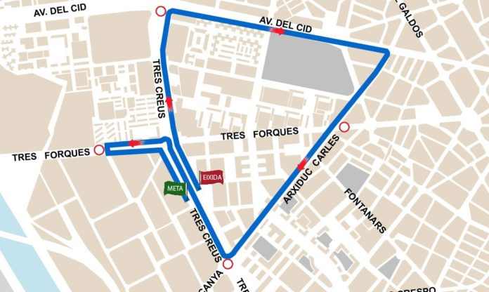 calles cortadas Valencia