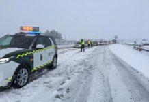 Carreteras de la Comunidad Valenciana cortadas por la nieve y el temporal