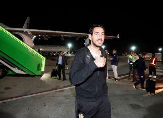 Dani Parejo a su llegada a Arabia Saudí.