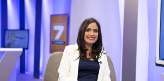 Belén Hoyo en su última visita a 7 Televalencia.