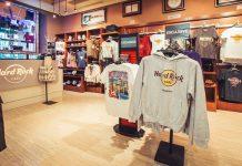 Interior de una Hard Rock Shop.