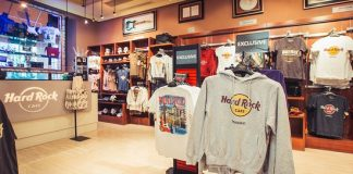 Interior de una Hard Rock Shop.