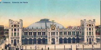 Dibujo de la estación del Norte en Valencia