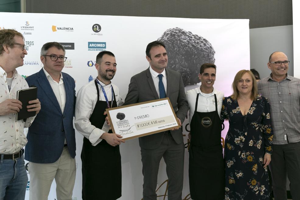 El xef Marc Martorell guanyador del III concurs gastronòmic valencià de la tòfona d'Andilla