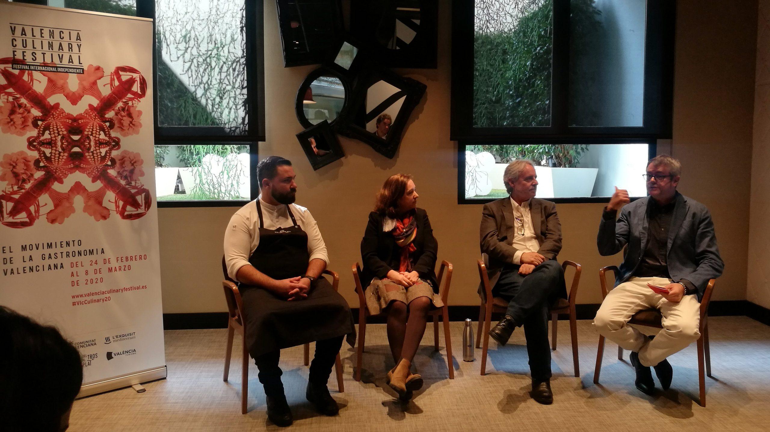 Esta mañana en la presentación de la nueva edición de Valencia Culinary Festival