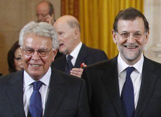 Felipe González y Mariano Rajoy coinciden en Valencia