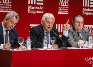 Felipe González en la conferencia de AVE