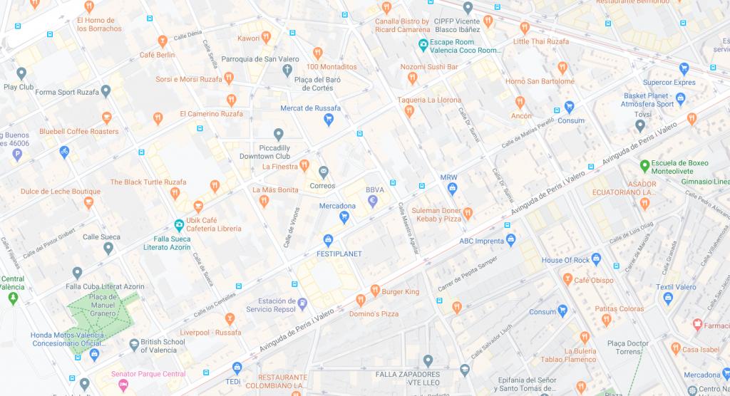 mapa ruzafa