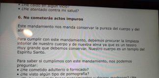 Un colegio valenciano pregunta a sus alumnos si practican adulterio