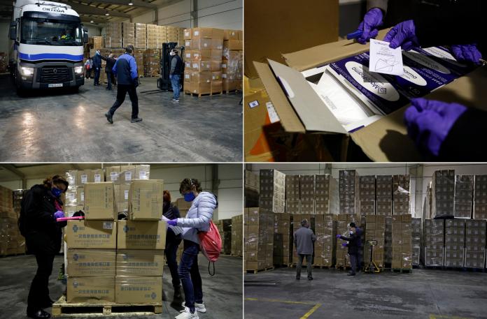 El Consell reparte 15 toneladas de material sanitario en hospitales y residencias valencianas