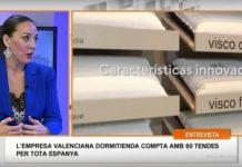 Mónica Duart en los estudios 7televalencia