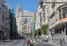 La Gran Vía de Madrid vacía durante la pandemia del coronavirus. / FOTO: EUROPA PRESS