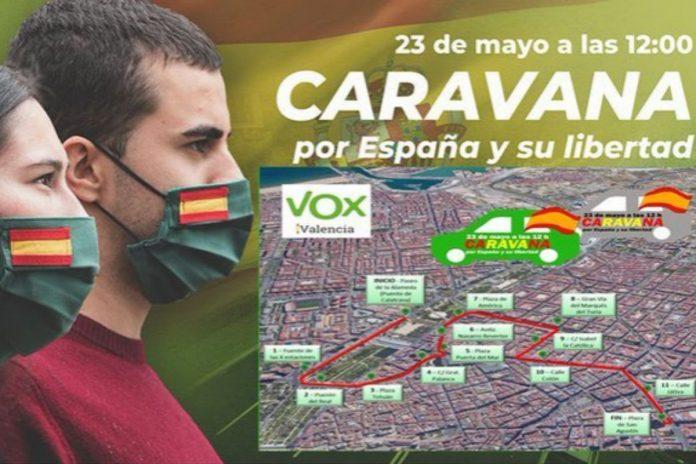 recorrido manifestacion valencia Vox