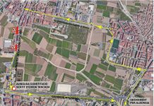Una de las salidas de Valencia se cerrará al tráfico tres semanas