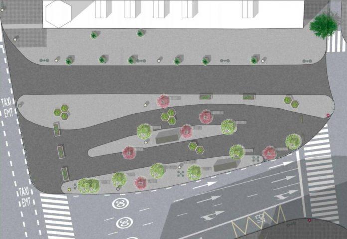 Así será la Plaza de San Agustín en un mes tras la peatonalización