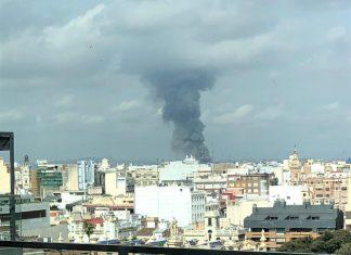 Incendio Aldaia visto desde Valencia-7Televalencia