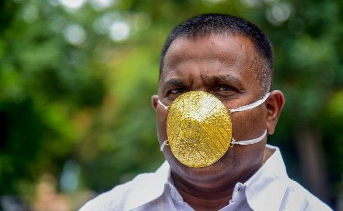 mascarilla de oro