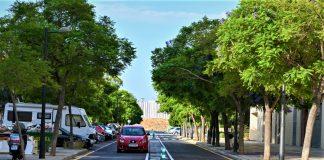 Dos calles de Valencia reducen la velocidad de circulación a 30 km/h