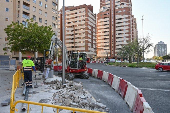 Comienzan las obras para instalar un nuevo carril bici en Valencia